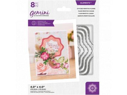 gemini stitched primitive flower elements dies gem
