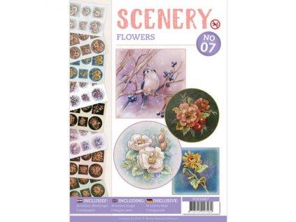 POS10007 3D výřezy v sadě Květiny