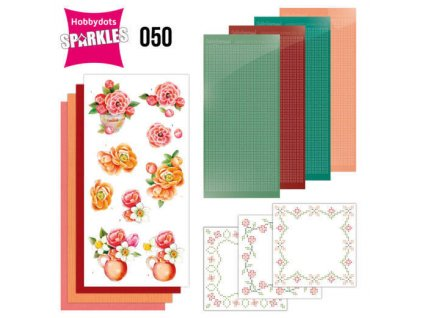 SPDO050 3d přání oranžové květiny