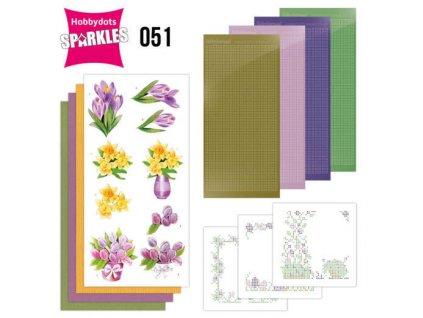 SPDO051 3d přání Jarní květiny