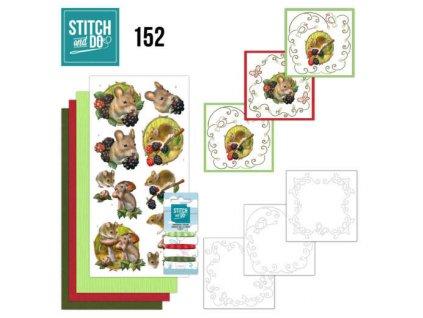 STDO15 sada 3D přání lesní zvířátka