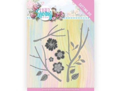 ADD10242 vyřezávací šablona květinky a větvičky