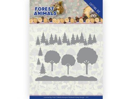 add10232 vyřezávací šablona v lese