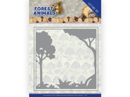 add10231 vyřezávací šablona lesní rámeček
