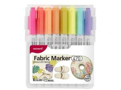 MONAMI textilní fixy pastelové 8 kusů (2)