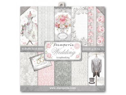stamperia wedding 12x12 inch paper pack sbbl18