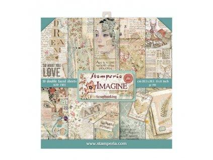 stamperia imagine 8x8 inch paper pack sbbs07