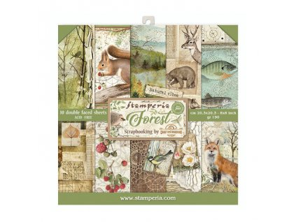 stamperia forest 8x8 inch paper pack sbbs06