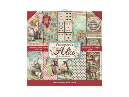 stamperia alice 8x8 inch paper pack sbbs01