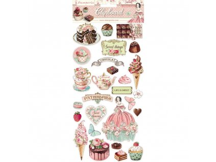 stamperia chipboard 15x30cm sweety dflcb11