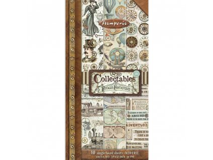 stamperia voyages fantastiques 6x12 inch paper pac