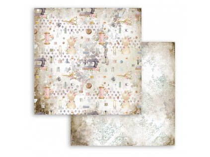 stamperia romantic threads texture 12x12 inch pape