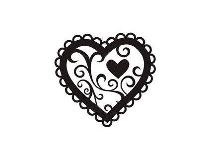 Embosovací kapsa Valentýnské srdce