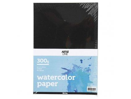 Papír akvarelový černý A4