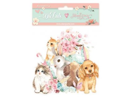 stamperia circle of love cats dogs and embellishme
