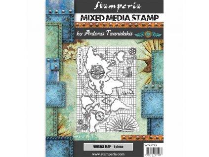 stamperia mixed media stamp sir vagabond vintage m