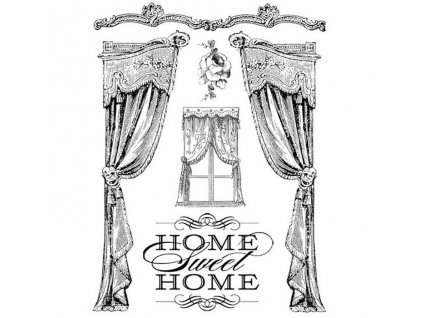 stamperia natural rubber stamp home sweet home wtk