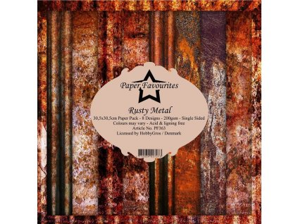 paper favourites rusty metal 12x12 inch paper pack