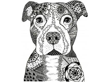 crafty individuals happy dog unmounted rubber stam