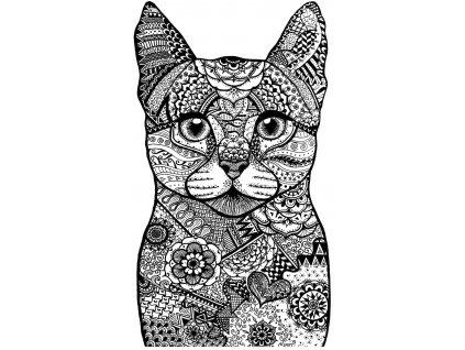 crafty individuals happy cat unmounted rubber stam