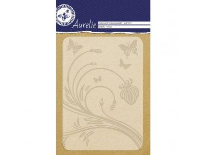 auef1011 aurelie butterfly festival background embossing folder