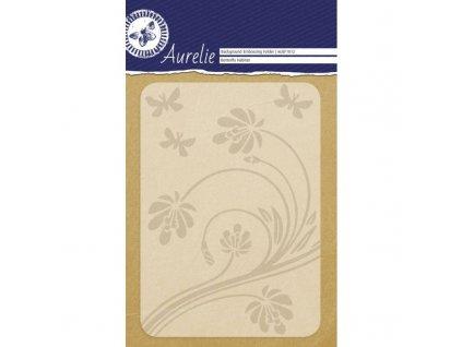 auef1012 aurelie butterfly habitat background embossing folder