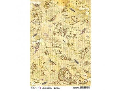 Rýžový papír AESOP'S FABLES 21x29.7 cm
