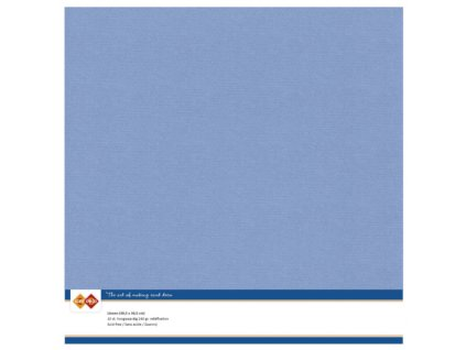 Barevný papír texturovaná čtvrtka modrá Stone 30x30cm