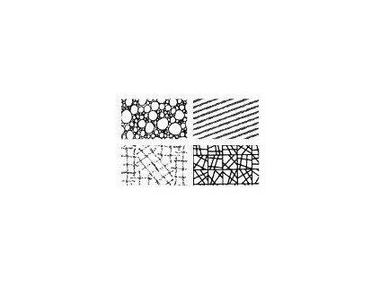 Gelová silikonová razítka Textura geometrie - bublinky