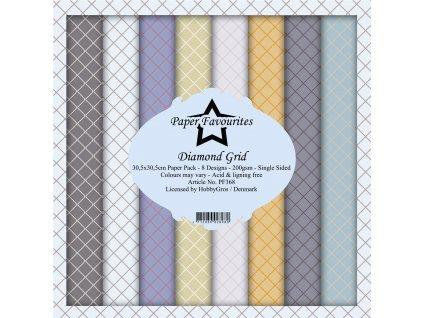 paper favourites diamond grid 12x12 inch paper pac