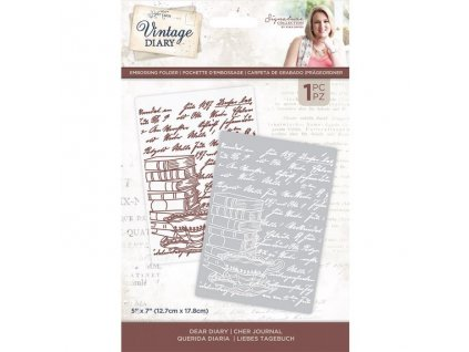 crafters companion vintage diary embossing folder