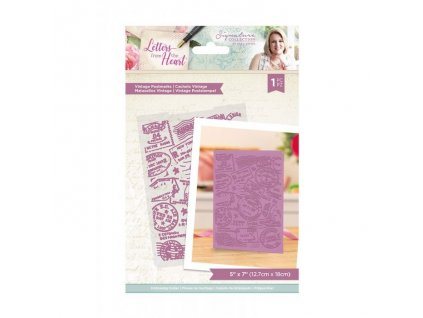 crafters companion letters from the heart vintage
