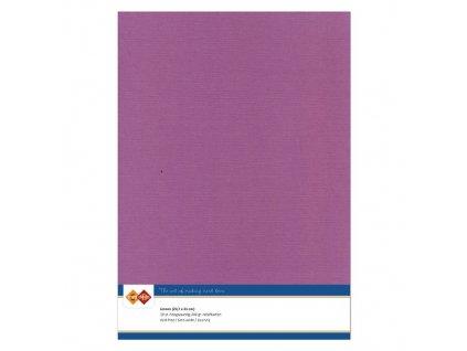Barevný papír - texturovaná čtvrtka lilková