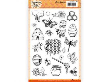 Razítka silikonová gelová Humming Bees