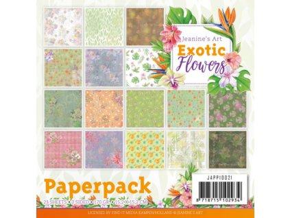Sada papírů Exotic Flowers