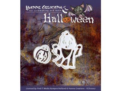 Šablona kovová vyřezávací Halloween duch