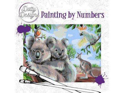 Malování podle čísel na plátno Australská zvířata