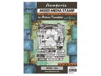 stamperia mixed media stamp sir vagabond in japan (4)