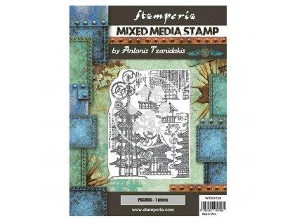 stamperia mixed media stamp sir vagabond in japan (5)