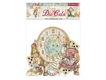 stamperia alice through the looking glass die cuts