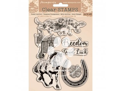 stamperia romantic horses clear stamps wtk156