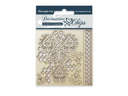 stamperia decorative chips winter tales scb09