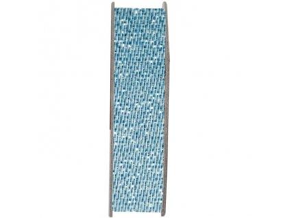 Stuha saténová třpytivá Uklidňující modrá