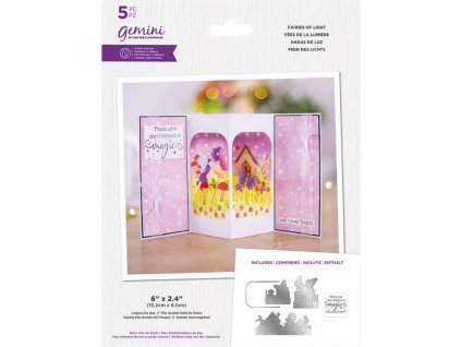 gemini scenes of light stamp die fairies of light