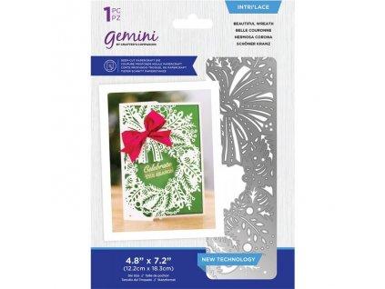 gemini beautiful wreath intrilace dies gem md int