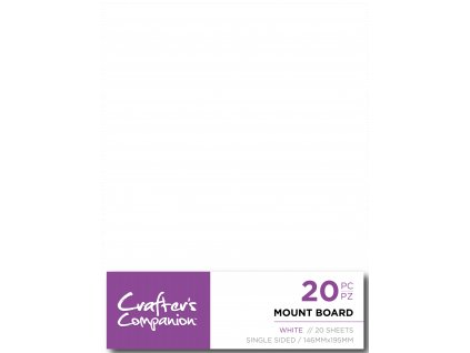 crafters companion mount board white cc mountw20