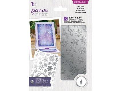 gemini let it snow create a card foil stamp die ge