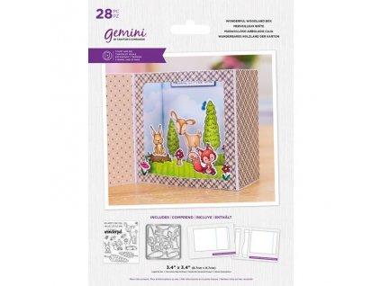 gemini wonderful woodland box stamp die gem std bw
