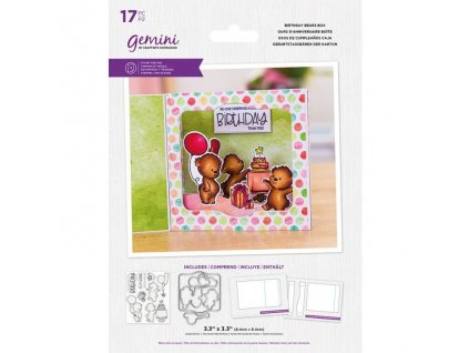 gemini birthday bears box stamp die gem std bbirbe