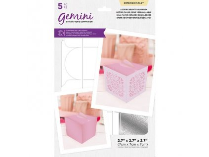 gemini locking heart favour box dimensionals die s